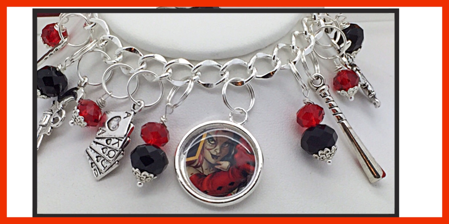 Dc comics harley quinn suicide squad inspired jewelry for Harley quinn and joker jewelry